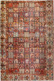 Baktjar Dywan 374X570 Orientalny Tkany Ręcznie Ciemnobrązowy/Ciemnoczerwony Duży (Wełna, Persja/Iran)