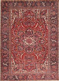 Heriz Dywan 246X340 Orientalny Tkany Ręcznie Ciemnoczerwony/Ciemnobrązowy (Wełna, Persja/Iran)