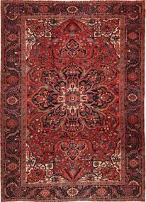 Heriz Dywan 262X358 Orientalny Tkany Ręcznie Ciemnoczerwony/Ciemnobrązowy Duży (Wełna, Persja/Iran)