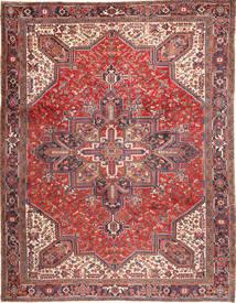 Heriz Dywan 293X380 Orientalny Tkany Ręcznie Ciemnoczerwony/Beżowy Duży (Wełna, Persja/Iran)