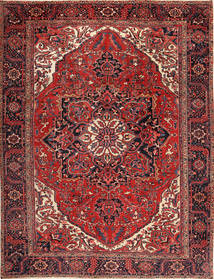 Heriz Dywan 292X380 Orientalny Tkany Ręcznie Ciemnoczerwony/Czarny Duży (Wełna, Persja/Iran)