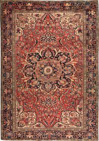 Heriz Dywan 256X366 Orientalny Tkany Ręcznie Ciemnobrązowy/Ciemnoczerwony Duży (Wełna, Persja/Iran)
