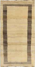 Gabbeh (Persja) Dywan 97X191 Nowoczesny Tkany Ręcznie Beżowy/Ciemnobeżowy (Wełna, Persja/Iran)