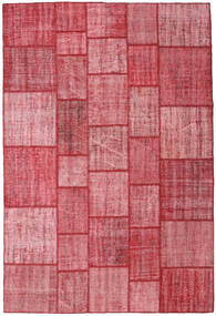 Patchwork Dywan 206X305 Nowoczesny Tkany Ręcznie Różowy/Rdzawy/Czerwony (Wełna, Turcja)