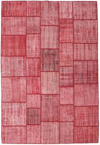 Patchwork Dywan 205X305 Nowoczesny Tkany Ręcznie Różowy/Rdzawy/Czerwony (Wełna, Turcja)
