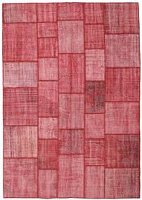 Patchwork Dywan 205X295 Nowoczesny Tkany Ręcznie Rdzawy/Czerwony/Różowy (Wełna, Turcja)