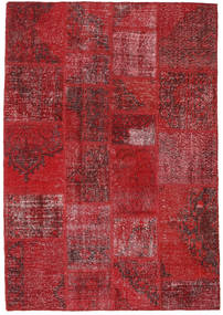 Patchwork Dywan 140X200 Nowoczesny Tkany Ręcznie Ciemnoczerwony/Czerwony (Wełna, Turcja)