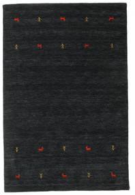 Gabbeh Loom Two Lines - Czarny/Szary Dywan 140X200 Nowoczesny Czarny (Wełna, Indie)