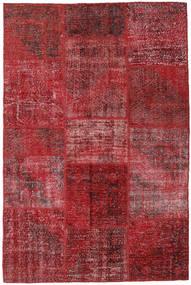 Patchwork Dywan 155X234 Nowoczesny Tkany Ręcznie Ciemnoczerwony/Czerwony (Wełna, Turcja)