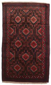 Beludż Dywan 102X190 Orientalny Tkany Ręcznie Ciemnobrązowy/Ciemnoczerwony (Wełna, Afganistan)