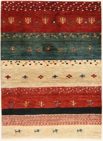 Loribaft (Persja) Dywan 102X140 Nowoczesny Tkany Ręcznie Czerwony/Ciemnozielony (Wełna, Persja/Iran)