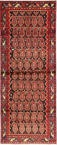 Hamadan Dywan 108X297 Orientalny Tkany Ręcznie Chodnik Ciemnobrązowy/Ciemnoczerwony/Rdzawy/Czerwony (Wełna, Persja/Iran)