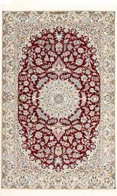 Nain 6La Habibian Dywan 120X190 Orientalny Tkany Ręcznie Jasnoszary/Ciemnoczerwony/Beżowy (Wełna/Jedwab, Persja/Iran)