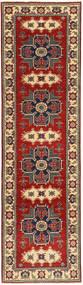 Kazak Dywan 78X290 Orientalny Tkany Ręcznie Chodnik Ciemnoczerwony/Ciemnobrązowy (Wełna, Pakistan)
