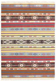 Kilim - Navaja - Navaja Dywan 170X240 Nowoczesny Tkany Ręcznie Beżowy/Czarny ( Indie)