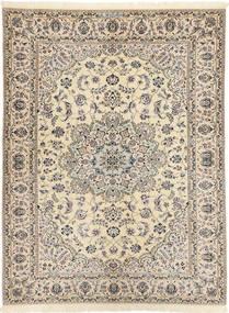 Nain 6La Habibian Dywan 144X198 Orientalny Tkany Ręcznie Jasnoszary/Beżowy (Wełna/Jedwab, Persja/Iran)