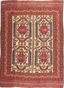 Kilim Golbarjasta Dywan 161X266 Orientalny Tkany Ręcznie Ciemnobrązowy/Ciemnoczerwony (Wełna, Afganistan)