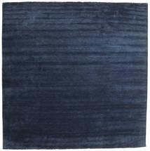 Handloom Fringes - Ciemnoniebieski Dywan 400X400 Nowoczesny Kwadratowy Ciemnoniebieski/Niebieski Duży (Wełna, Indie)
