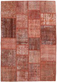 Patchwork Dywan 138X203 Nowoczesny Tkany Ręcznie Ciemnoczerwony/Czerwony (Wełna, Turcja)
