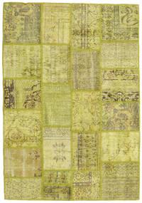 Patchwork Dywan 141X201 Nowoczesny Tkany Ręcznie Zielony/Oliwkowy/Żółty (Wełna, Turcja)