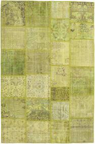 Patchwork Dywan 198X305 Nowoczesny Tkany Ręcznie Zielony/Oliwkowy/Żółty (Wełna, Turcja)