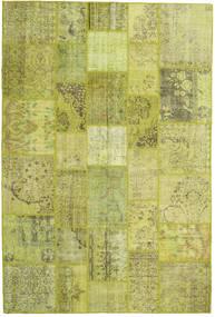 Patchwork Dywan 205X306 Nowoczesny Tkany Ręcznie Zielony/Oliwkowy/Żółty (Wełna, Turcja)