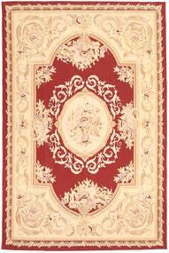 Aubouson Dywan 184X281 Orientalny Tkany Ręcznie Ciemnobeżowy/Beżowy/Ciemnoczerwony (Wełna, Chiny)