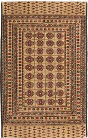 Kilim Golbarjasta Dywan 125X194 Orientalny Tkany Ręcznie Ciemnobeżowy/Jasnobrązowy (Wełna, Afganistan)