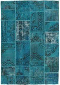 Patchwork Dywan 159X231 Nowoczesny Tkany Ręcznie Ciemny Turkus/Ciemnoniebieski (Wełna, Turcja)