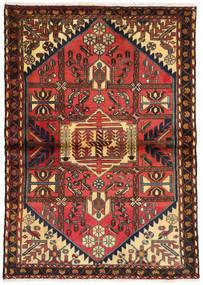 Afszar/Sirjan Dywan 107X150 Orientalny Tkany Ręcznie Ciemnobrązowy/Ciemnoczerwony (Wełna, Persja/Iran)