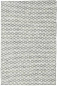 Kilim Honey Comb - Szary Dywan 120X180 Nowoczesny Tkany Ręcznie Jasnoszary/Beżowy (Wełna, Indie)