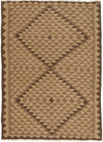 Kilim Dywan 145X207 Orientalny Tkany Ręcznie Jasnobrązowy/Brązowy (Wełna, Persja/Iran)