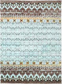 Quito - L. Niebieski Dywan 240X290 Nowoczesny Tkany Ręcznie Jasnoniebieski/Ciemnoszary (Jedwab, Indie)