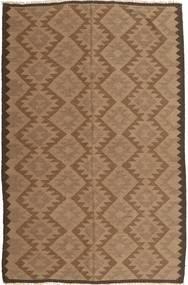 Kilim Dywan 160X240 Orientalny Tkany Ręcznie Brązowy (Wełna, Persja/Iran)