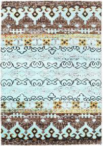 Quito - L. Niebieski Dywan 140X200 Nowoczesny Tkany Ręcznie Turkusowy Niebieski/Jasnoniebieski (Jedwab, Indie)