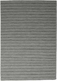 Kilim Long Stitch - Czarny/Szary Dywan 240X340 Nowoczesny Tkany Ręcznie Jasnoszary/Ciemnoszary (Wełna, Indie)