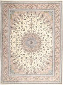 Isfahan Jedwabna Osnowa Dywan 315X420 Orientalny Tkany Ręcznie Jasnoszary/Beżowy Duży (Wełna/Jedwab, Persja/Iran)