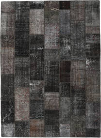 Patchwork Dywan 273X375 Nowoczesny Tkany Ręcznie Ciemnoszary/Czarny Duży (Wełna, Turcja)