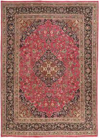 Meszhed Patina Dywan 245X345 Orientalny Tkany Ręcznie Ciemnoczerwony/Rdzawy/Czerwony (Wełna, Persja/Iran)