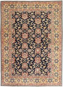 Saruk Patina Dywan 195X277 Orientalny Tkany Ręcznie Ciemnobeżowy/Czarny (Wełna, Persja/Iran)