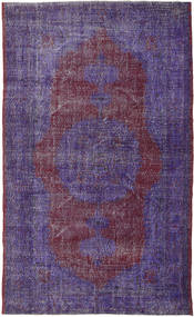 Colored Vintage Dywan 189X311 Nowoczesny Tkany Ręcznie Ciemnofioletowy/Fioletowy (Wełna, Turcja)
