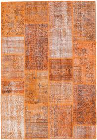 Patchwork Dywan 161X236 Nowoczesny Tkany Ręcznie Pomarańczowy/Ciemnoczerwony (Wełna, Turcja)