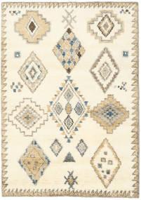 Berber Indie - Kość Słoniowa/Beżowy Dywan 140X200 Nowoczesny Tkany Ręcznie Beżowy/Biały/Creme (Wełna, Indie)