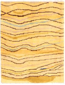 Gabbeh (Persja) Dywan 81X109 Nowoczesny Tkany Ręcznie Żółty/Jasnobrązowy (Wełna, Persja/Iran)