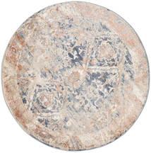 Talitha - Dusty Niebieski Dywan Ø 150 Nowoczesny Okrągły Jasnoszary/Biały/Creme ( Turcja)