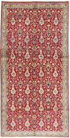 Nadżafabad Dywan 145X297 Orientalny Tkany Ręcznie Chodnik Ciemnoczerwony/Jasnoszary (Wełna, Persja/Iran)