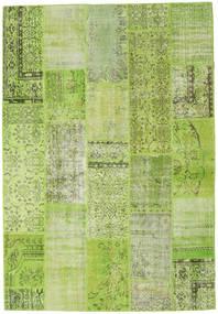 Patchwork Dywan 204X298 Nowoczesny Tkany Ręcznie Jasnozielony/Zielony/Oliwkowy (Wełna, Turcja)