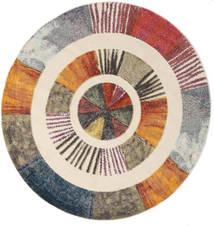 Going Okrągłe Dywan Ø 200 Nowoczesny Okrągły Jasnobrązowy/Brązowy ( Turcja)