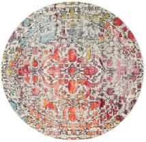 Kaleidoscope - Multi Dywan Ø 200 Nowoczesny Okrągły Jasnoszary/Ciemnobrązowy ( Turcja)
