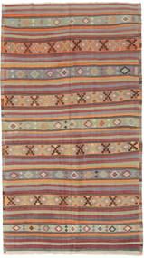 Kilim Tureckie Dywan 166X295 Orientalny Tkany Ręcznie Jasnoszary/Ciemnoczerwony (Wełna, Turcja)
